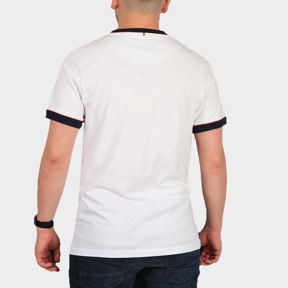 Pretty Green Mens White Tilby Tipped T Shirt main image