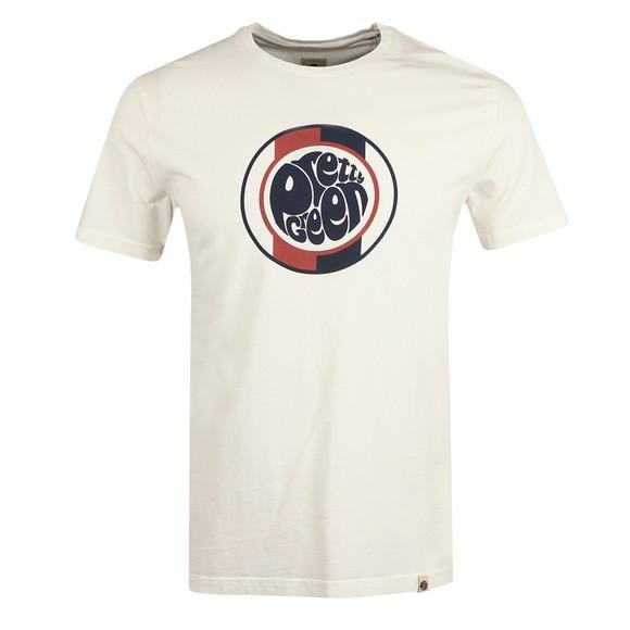 Pretty Green Mens White Tilby Logo T Shirt main image