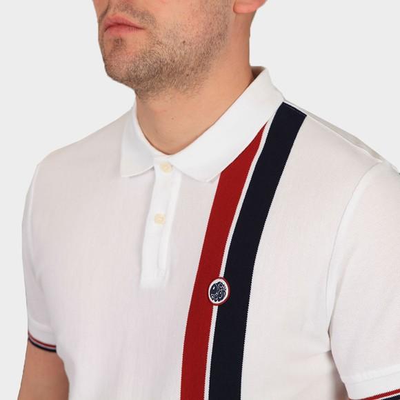 Pretty Green Mens White Colour Block Polo Shirt main image