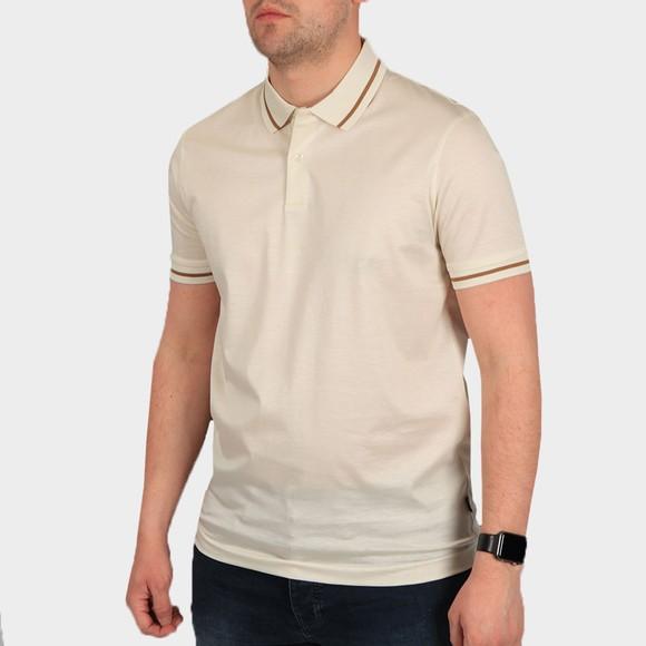 BOSS Mens Off-White Formal Parlay 108 Polo Shirt