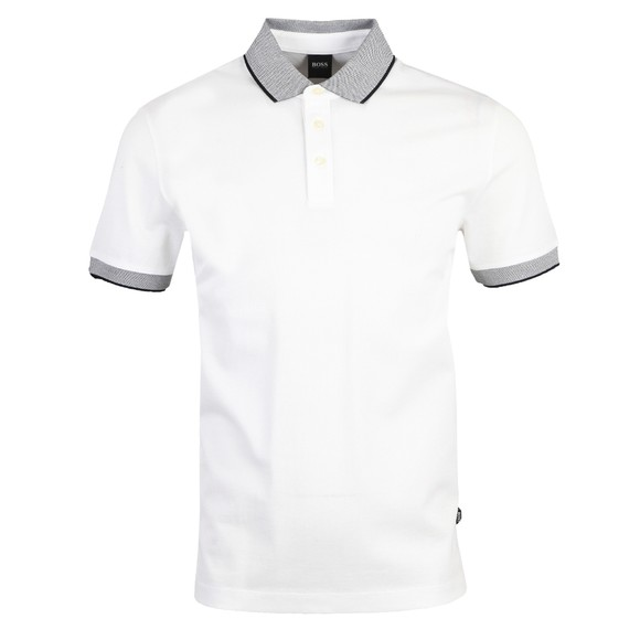 BOSS Mens White Formal Prout 26 Polo Shirt