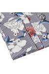 Guide London Mens Blue Stripe Flower Shirt
