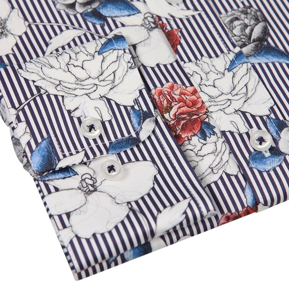 Stripe Flower Shirt main image