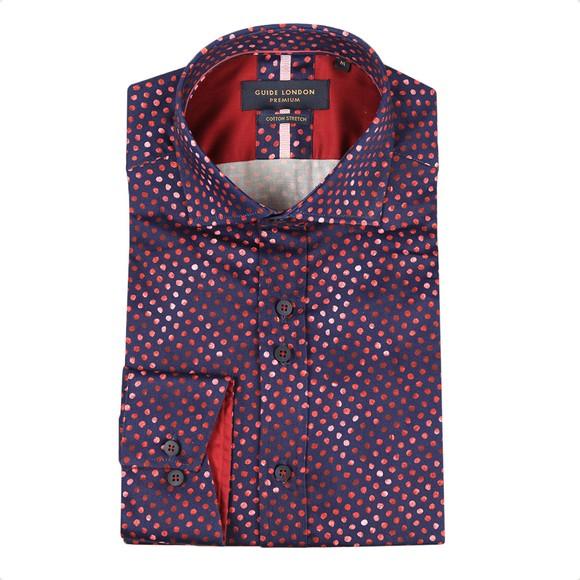 Guide London Mens Red Spot Shirt main image