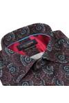 Guide London Mens Blue Pattern Swirls Shirt