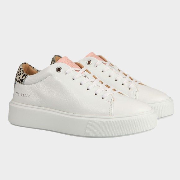 Ted Baker Womens White Piixiee Trainer main image