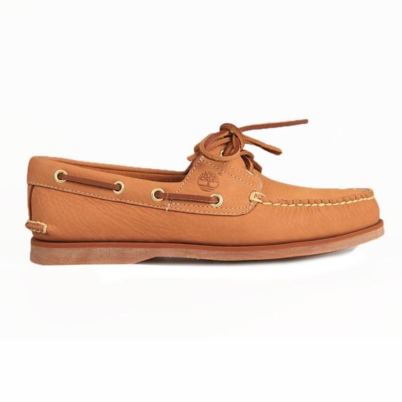 Timberland Mens Beige Nubuck Boat Shoe