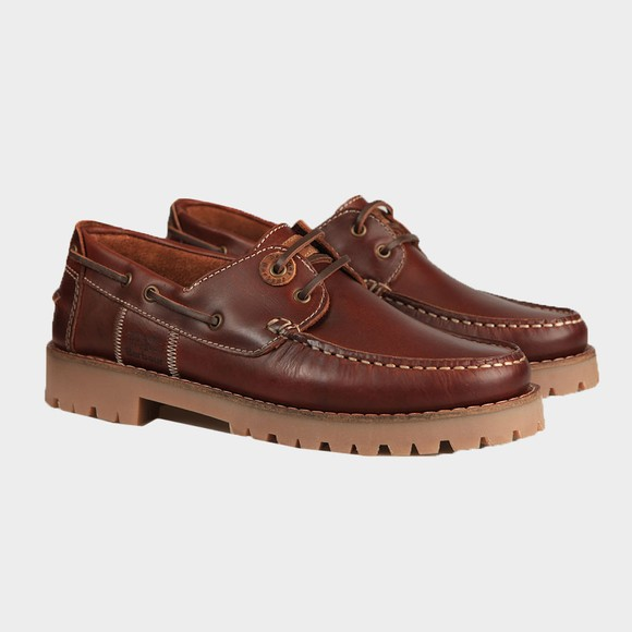 Barbour Lifestyle Mens Brown Stern Boat Shoe main image