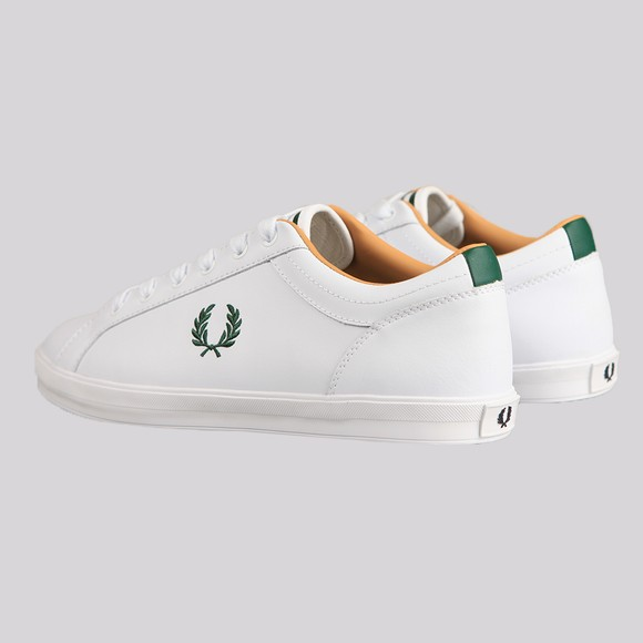 Fred Perry Mens White Baseline Leather Trainer main image