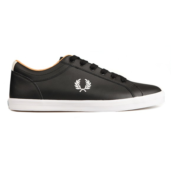 Fred Perry Mens Black Baseline Leather Trainer