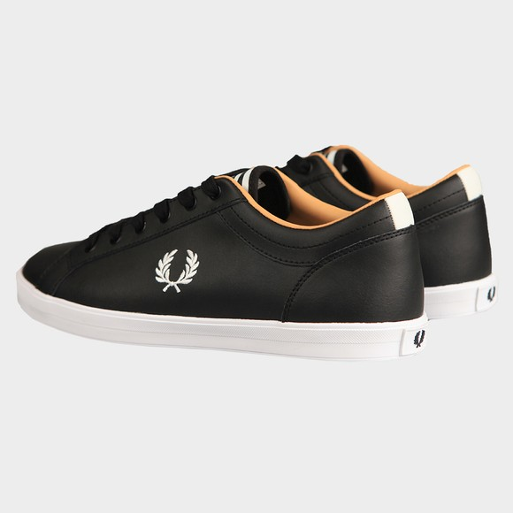 Fred Perry Mens Black Baseline Leather Trainer main image