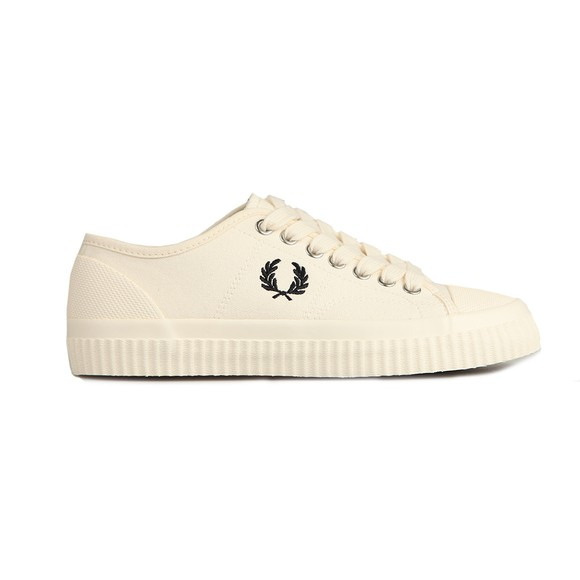 Fred Perry Womens Off-White Hughes Low Canvas Trainer