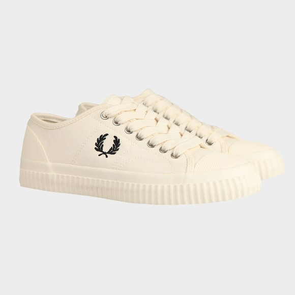 Fred Perry Womens Off-White Hughes Low Canvas Trainer main image