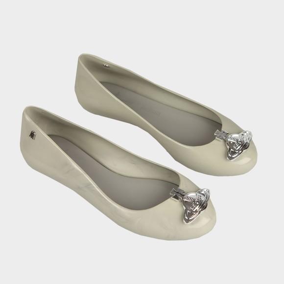 Vivienne Westwood Anglomania X Melissa Womens Grey Marble Sweet Love Viv Shoe main image