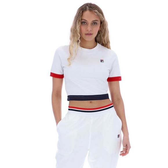 Fila Womens White Cattia Crop T Shirt