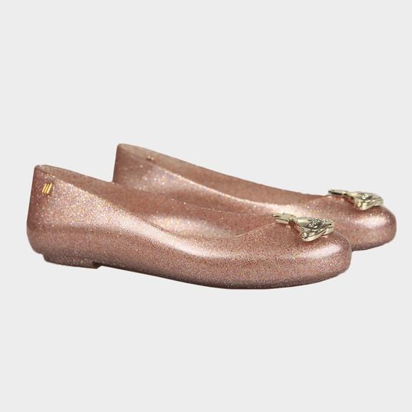 Vivienne Westwood Anglomania X Melissa Womens Rose Glitter Sweet Love Viv Orb Shoe