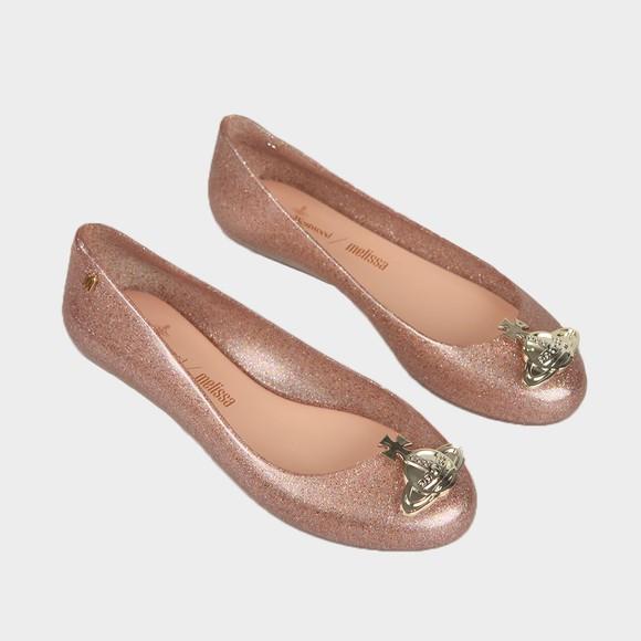 Vivienne Westwood Anglomania X Melissa Womens Rose Glitter Sweet Love Viv Orb Shoe main image