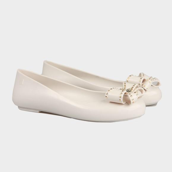 Vivienne Westwood Anglomania X Melissa Womens White Sweet Love Viv Bow Shoe