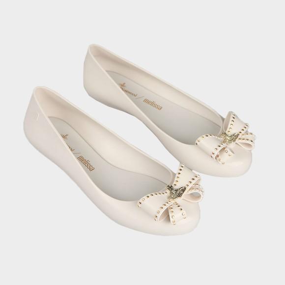 Vivienne Westwood Anglomania X Melissa Womens White Sweet Love Viv Bow Shoe main image