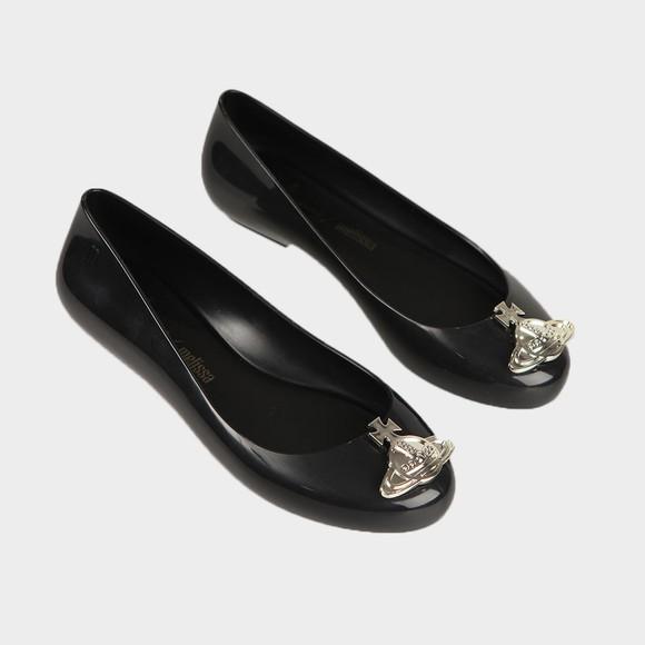 Vivienne Westwood Anglomania X Melissa Womens Black Sweet Love Viv Orb Shoe main image