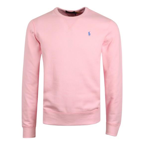 Polo Ralph Lauren Mens Pink Fleece Crew Neck Sweatshirt