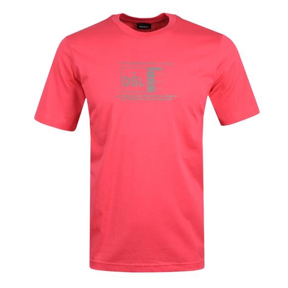 Diesel Mens Pink T-Just A35 T-shirt main image