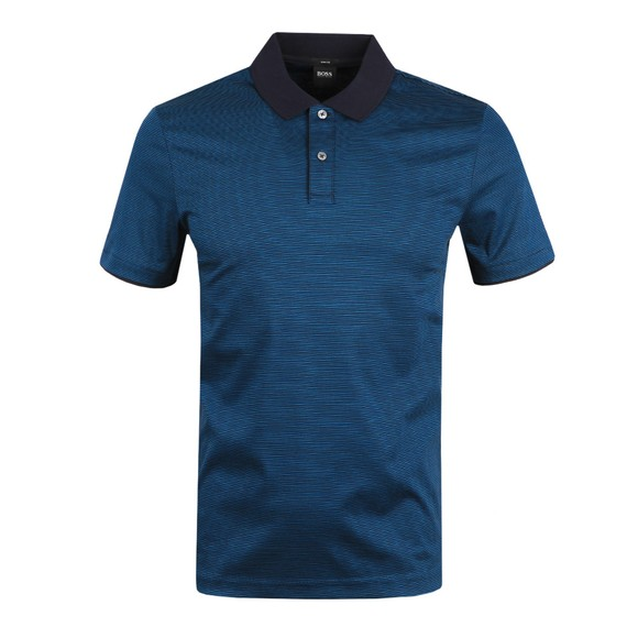 BOSS Mens Blue Formal Phillipson 82 Polo Shirt