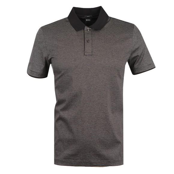 BOSS Mens Black Formal Phillipson 82 Polo Shirt