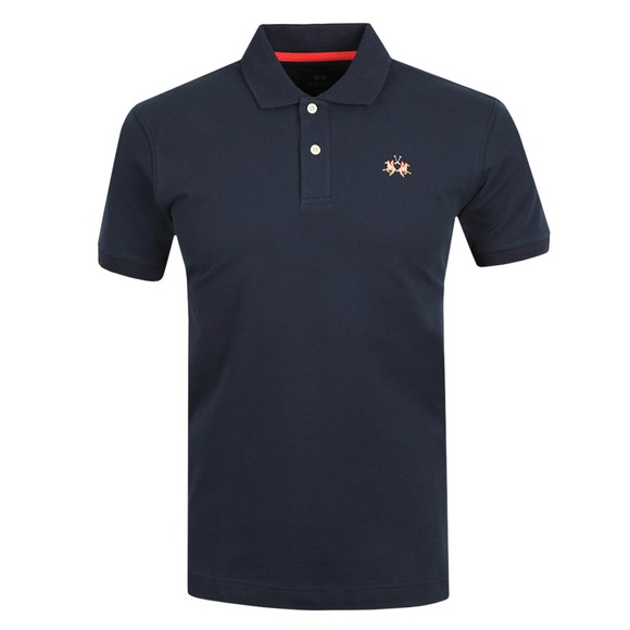 La Martina Mens Blue Classic Slim Fit Polo Shirt