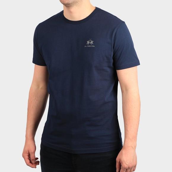 La Martina Mens Blue Classic Small Logo T Shirt main image