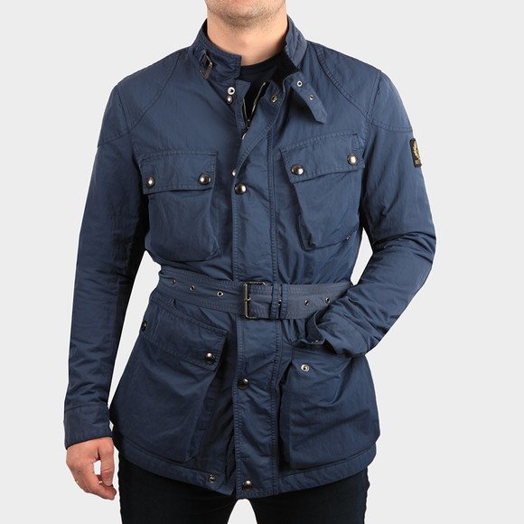 Belstaff Mens Blue Trialmaster Nylon Jacket