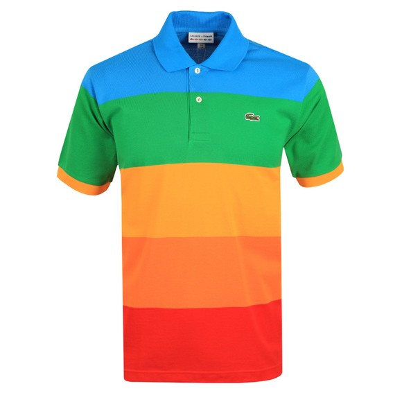Lacoste x Polaroid Mens Multicoloured PH2082 Stripe Polo Shirt