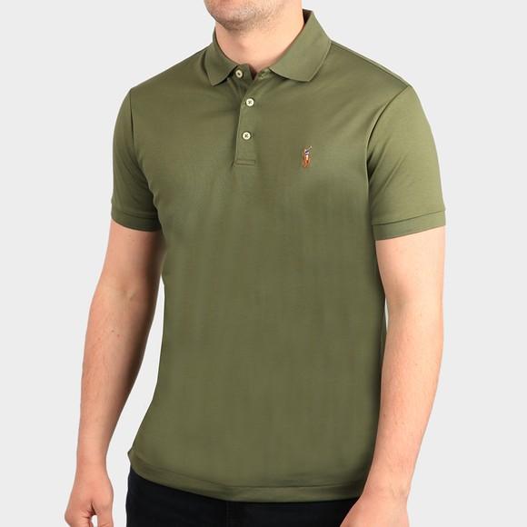 Polo Ralph Lauren Mens Green Custom Slim Fit Pima Polo Shirt
