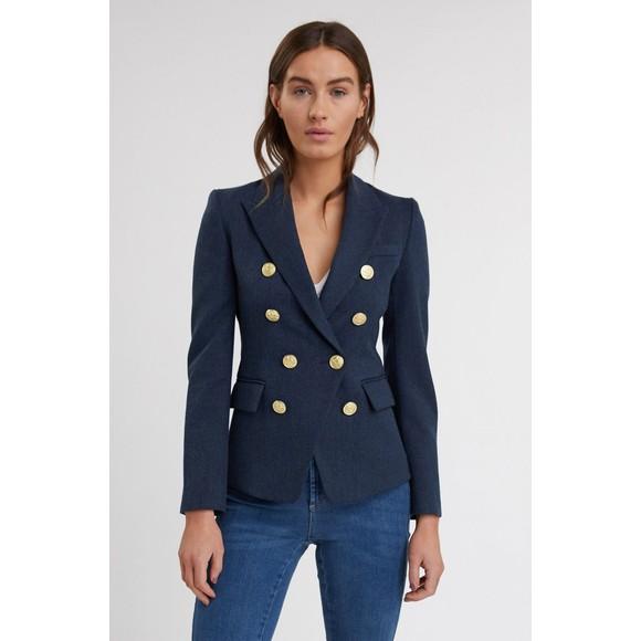 Holland Cooper Womens Blue Light Knightsbridge Blazer main image