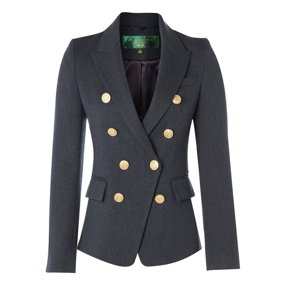 Holland Cooper Womens Blue Light Knightsbridge Blazer