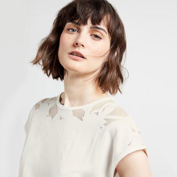 Ted Baker Womens White Burnout Top main image