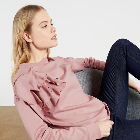 Ted Baker Womens Pink Ozai Sweatshirt With Ruffles main image