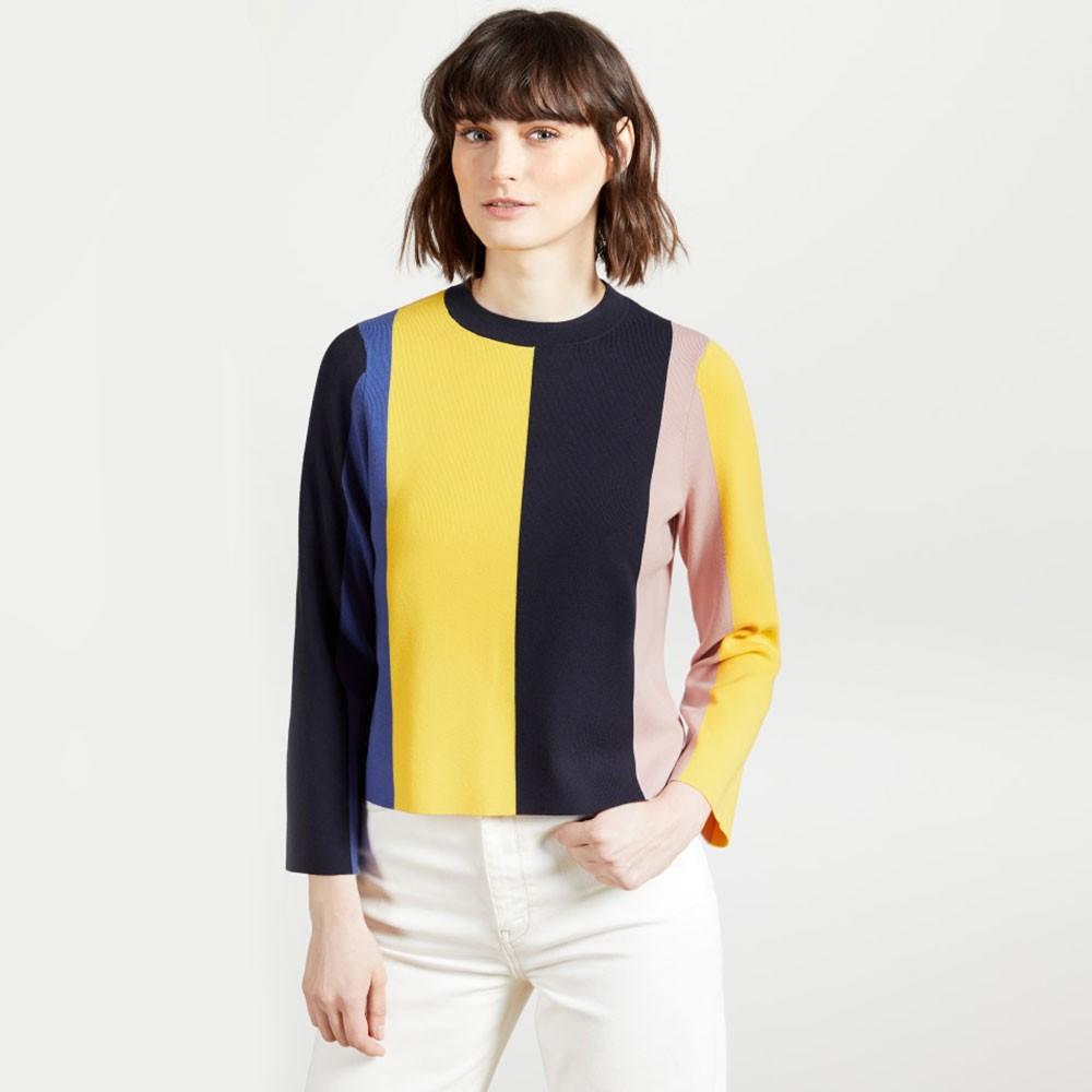 Fenchi Stripe A Line Sweater main image