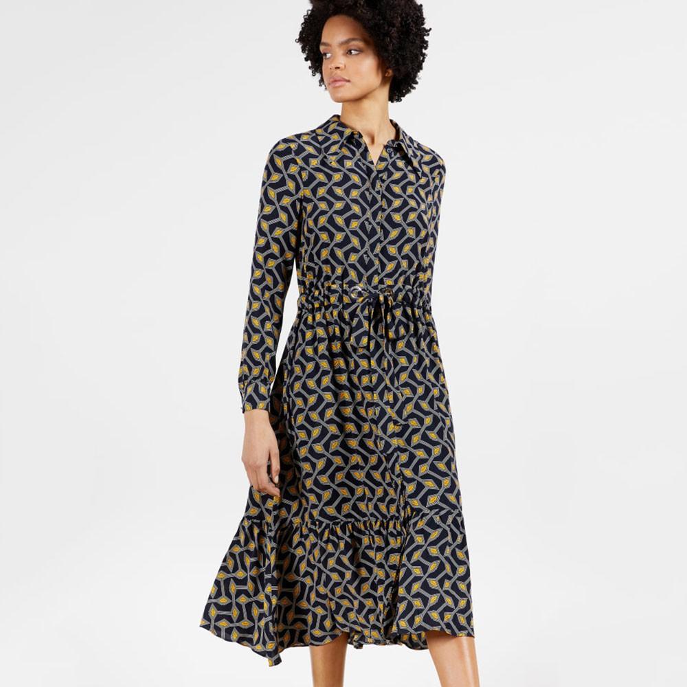 Kwalaa Modernity Printed Long Sleeve Dress main image