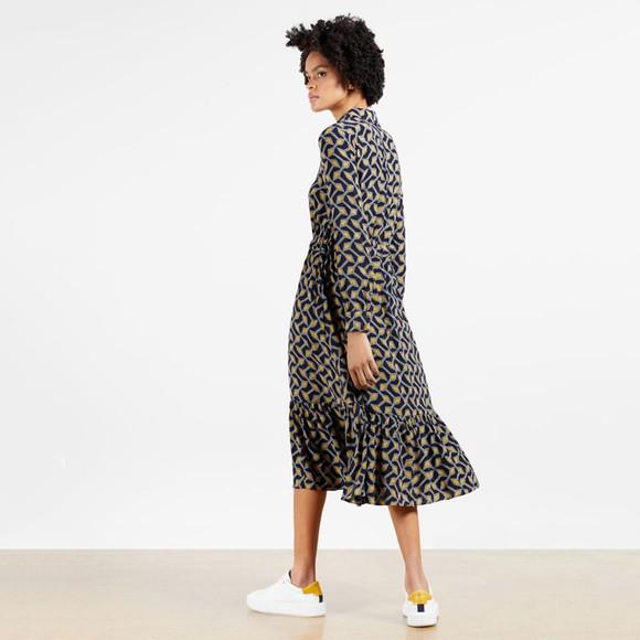 Ted Baker Womens Blue Kwalaa Modernity Printed Long Sleeve Dress main image