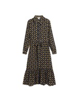Kwalaa Modernity Printed Long Sleeve Dress