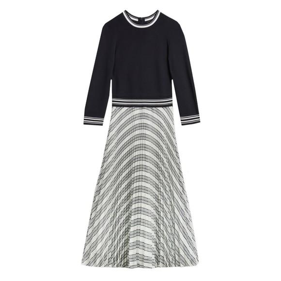 Ted Baker Womens Blue Lantai Knit Bodice Mockable Dress