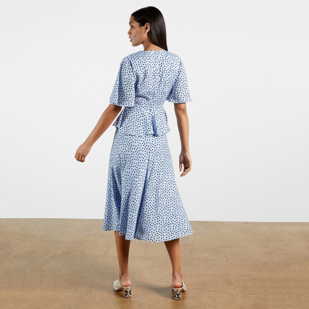 Mabbel Dotty Peplum Tea Dress main image