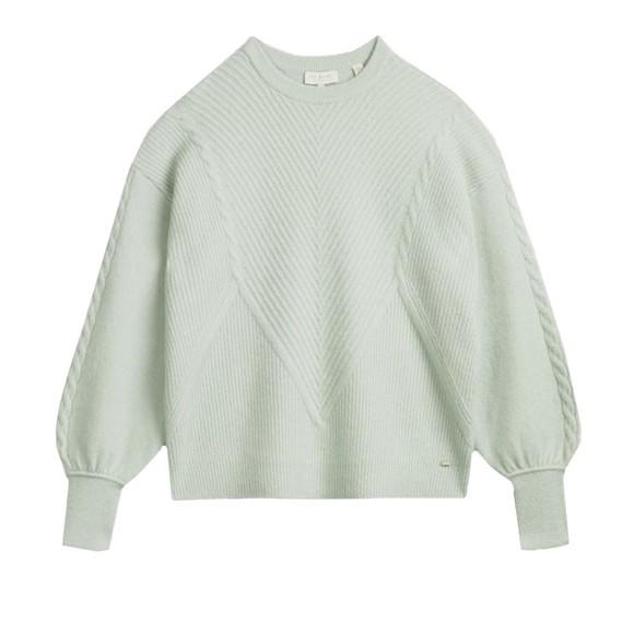 Ted Baker Womens Green Ummaa Chunky Sweater