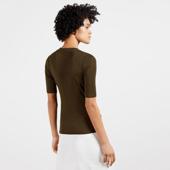 Ted Baker Womens Green Jasmyhn Rib T-Shirt main image