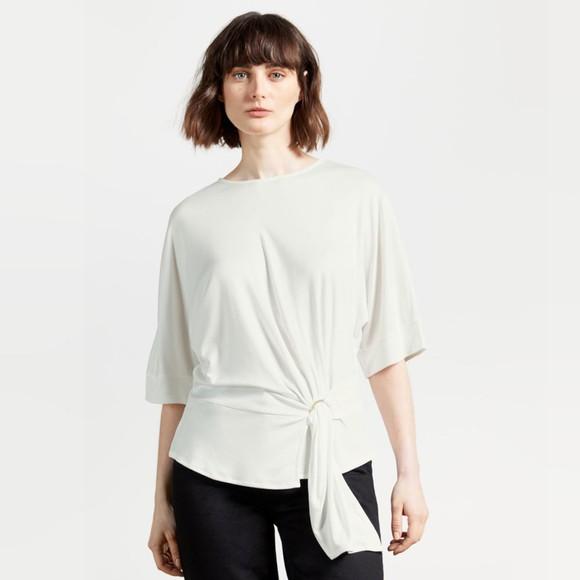 Ted Baker Womens White IIsobel Drape Jersey T-Shirt