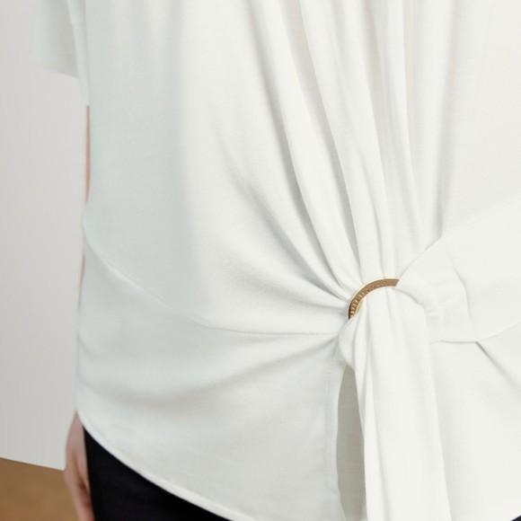 Ted Baker Womens White IIsobel Drape Jersey T-Shirt main image