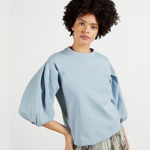 Ted Baker Womens Blue Irissa Puff Sleeve Sweatshirt