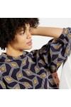Ted Baker Womens Blue Lipsah Modernity Printed Sweatshirt