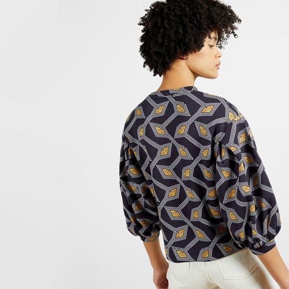Ted Baker Womens Blue Lipsah Modernity Printed Sweatshirt main image